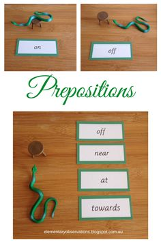 Free Prepositions and Preposition Command Cards from Elementary Observations
