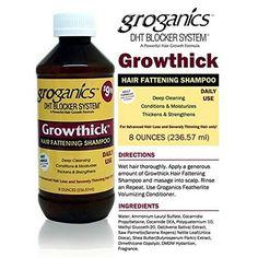 Groganics Growthick Hair Fattening Shampoo * Be sure to check out this awesome product. (This is an affiliate link) Natural Hair Tips, Natural Hair Styles, G Hair, Advanced Hair, Natural Haircare, Ingrown Hair, Hair Shampoo, Hair Hacks, Healthy Hair