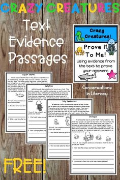 Comprehension Passages with text based questions.  Great for guided reading small groups, reading interventions, and literacy centers