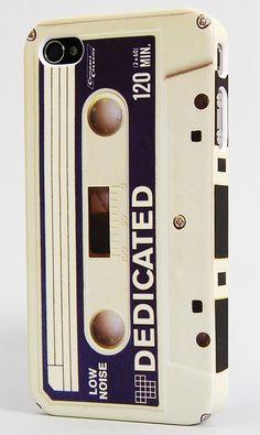 White Retro Casett Tape  Audio Kassetten Tape in weiß. Retro iPhone 4 und 4S Caover hülle Schutz.