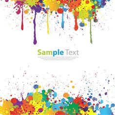 Vector Graphics | Colorful Paint Splat Vector | Free Vector Graphics | All Free Web ...