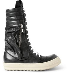Rick Owens Leather Boots..........something i like to wear but can't afford