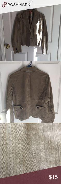 Brown blazer 100% cotton. so Jackets & Coats Blazers