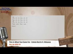 This Is What You Came For - Calvin Harris ft. Rihanna Vocal Backing Track with chords and lyrics