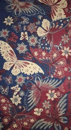 30 Ideas For Pattern Wallpaper Vintage Textiles Batik Pattern, Pattern Art, Surface Pattern, Vintage Textiles, Vintage Prints, Geometric Nature, Batik Art, Butterfly Flowers, Butterflies