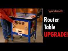 Fill the unused space under your router table with a storage cabinet for all of your router bits and accessories. Awesome Woodworking Ideas, Woodworking Projects That Sell, Woodworking Clamps, Woodworking Furniture, Woodworking Tips, Kreg Router Table, Router Bits, Shop Dust Collection, Cooler Stand