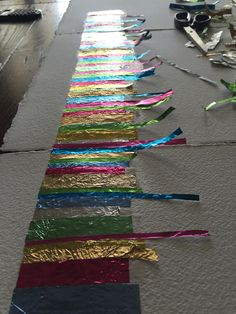 Making art selecting and cutting foil colours from recycled confectionery chocolate wrappers. Art Projects For Adults, Cool Art Projects, Modern Art, Contemporary Art, Big Canvas Art, Pop Art Girl, Fantasy Art Women, Greek Art, Collage Artists