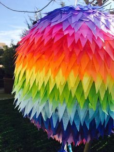 Check out our modern pinata selection for the very best in unique or custom, handmade pieces from our piñatas shops. Rainbow Pinata, Rainbow Birthday, Party Deco, Art Party, Homemade Pinata, Pinata Party, Rainbow Wedding, Neon Party, Mexican Party