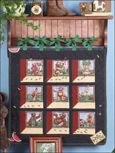 Quilting - Children's Corner - Kids Quilts & Wall Hangings - Attic Window Wall Hanging - #FQ00455