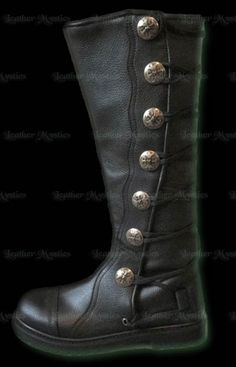 medieval leather boots - $199 - www.LeatherMystics.com