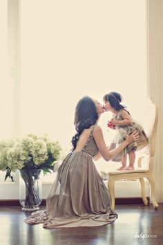 flower girl + her mom... y'know just an idea if your adorable flower girl's mother happens to be in the wedding as well...