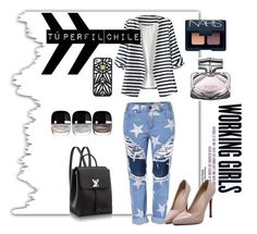 """""""casual day for Whork"""" by macarenack on Polyvore featuring moda, WithChic, Hervé Léger, Marc Jacobs, NARS Cosmetics y Gucci"""