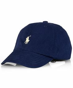 A preppy baseball cap in signature cotton twill is finished with iconic heritage embroidery. | Cotton | Machine Wash | Imported | Ralph Lauren boys' cap | Six-panel construction with embroidered venti
