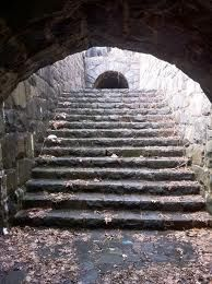 This staircase would lead to my underground swimming pool. Or do a smaller tunnel
