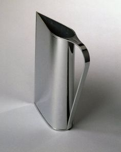M :: Peter Muller-Munk; Chrome-Plated Brass 'Normandie' Pitcher for Revere Copper and Brass Company, Kitchenware, Tableware, Copper And Brass, Brass Metal, Design Reference, Chrome Plating, Kitchen Gadgets, Industrial Design, Design Elements