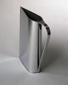 """Normandie"" Pitcher | Peter Muller-Munk : ca. 1935, chrome plated brass."
