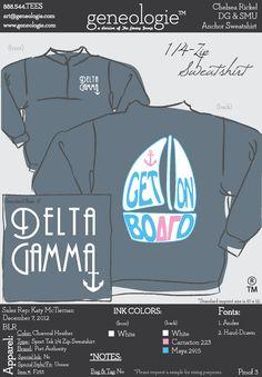 Delta Gamma zip sweatshirt