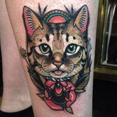 Tattoo Katze Old School Tat Beste Ideen - Hair♥ Nails♥ Beauty♥ Tattoos♥ Piercings♥ - Katzen witzig Arrow Tattoos, Leg Tattoos, Body Art Tattoos, Girl Tattoos, Hals Tattoo Mann, Tattoo Hals, Tatto Cat, Traditional Tattoo Cat, Black Art
