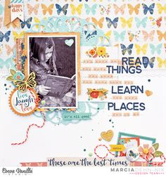 The More You Read scrapbook layout created with Cocoa Vanilla Studios Life Is Beautiful collection.