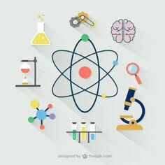 Colección de iconos científicos Vector Gratis
