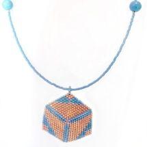 beaded necklace, Ciondolo Perline, Beading Pendant, bead embroidery - by…