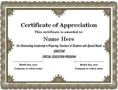 Certificate Of Appreciation Templates Free Download Certificate Of Appreciation 06  Certificate Of Appreciation .