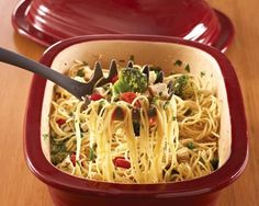 Pampered Chef Summertime Spaghetti  Its the Best!