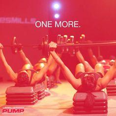 Beachbody Les Mills Pump Workout Motivation One More www.facebook.com/HealthyFitandWise www.beachbodycoach.com/wiselori