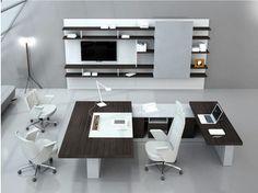 Librería de oficina modular de madera BOISERIE - ESTEL GROUP