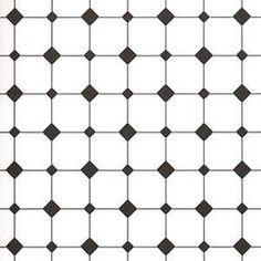 1/2 Scale Diamond Tiles, Black & White wallpaper