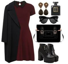 Imagen de outfit, dress, and look Grunge Outfits, Classy Outfits, Stylish Outfits, Fall Outfits, Classy Casual, Look Fashion, Korean Fashion, Fashion Outfits, Womens Fashion