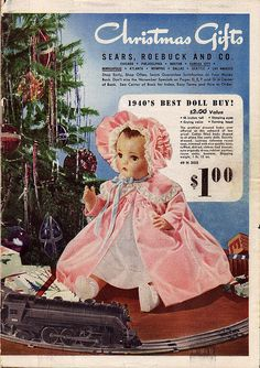 Image detail for -Vintage Advent Calendar - Dec 1940 Sears Christmas Catalogue - History Christmas Catalogs, Christmas Books, Vintage Christmas, Merry Christmas, Xmas, Pink Christmas, Christmas Deco, Christmas Wishes, Christmas Gifts