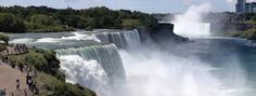 Niagara Falls from American side. This is a Panoramic comprised of 5 separate photos combined. Photographed with Canon 5D MKII with 100mm Macro lens.