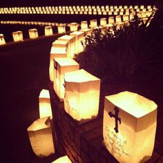 Put activated glow sticks inside of white paper bags to have luminary walks (great for memorials also!)