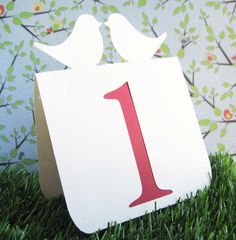Wedding Table Numbers Love Birds 1 to 25 by tiffzippy on Etsy, $45.00