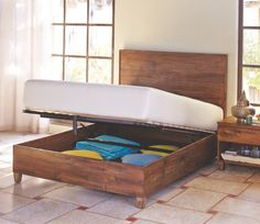 Reilly Queen Storage Bed via Cost Plus World Market via Cost Plus World Market >> #WorldMarket Bed Makeover, Home Decor, Tips
