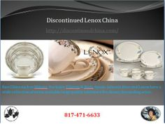 We are offering a wide range of #Discontinued China products such as #lenox. fine China such as #Mikasa, #Noritake, Villeroy & Boch, Spode, Johnson Bros and Lenox have a wide collection of items available large quality tableware for dinner demanding artist.