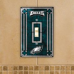 NFL - Philadelphia Eagles Light Switch Cover: Single Glass: Sports Fan Shop : Walmart.com - Hubby's style!