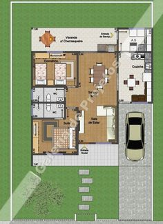 House Projects Architecture Floor Plans Quartos For 2019 Contemporary House Plans, Modern House Plans, Small House Plans, House Floor Plans, Studio Apartment Plan, Apartment Layout, Apartment Plans, 2 Bedroom House Plans, Floor Plan Layout