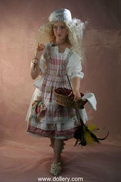 """""""Smeralda"""" Rotraut Schrott Dolls $10,000.00 (sold in 2012)"""