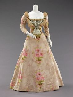 JP Worth Evening Dress, 1897.