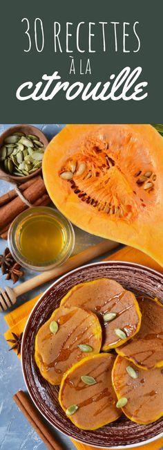 Muffins, tartes, pancakes : 30 recettes à la citrouille ! Autumn Winter Recipes, Winter Food, Fall Recipes, Great Recipes, Pumpkin Recipes, Veggie Recipes, Vegetarian Recipes, Cooking Recipes, Healthy Recipes