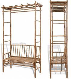 Outdoor Trellis Bench Garden Patio Plant Arch Arbor Chair Seating Furniture Deco