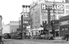 Broadway between Rosemont and Devon-Sheridan, photo dates to around 1930. The Granada Theater (6427 N. Sheridan Rd.) can be seen in the rear.