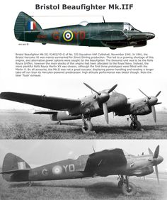 Navy Aircraft, Ww2 Aircraft, Fighter Aircraft, Military Aircraft, Fighter Jets, Bristol Beaufighter, Old Planes, War Thunder, Aircraft Design