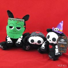 Skelanimals-LOT-Timmy-Spider-jack-Rabbit-and-Kit-Cat-in-Disguise-Halloween-Plush