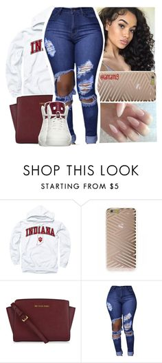 """""""when can't nobody act right for you"""" by lamamig ❤ liked on Polyvore featuring Sonix, MICHAEL Michael Kors and NIKE"""