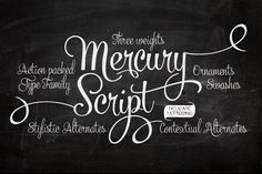 Well hello there, Mercury Script! You are gorgeous! Going my way?