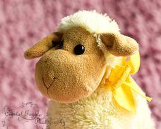 Yellow Sheep Girls Nursery Photography Print by CrystalGaylePhoto, $30.00