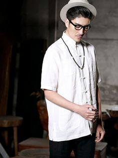 casual chinese linen top